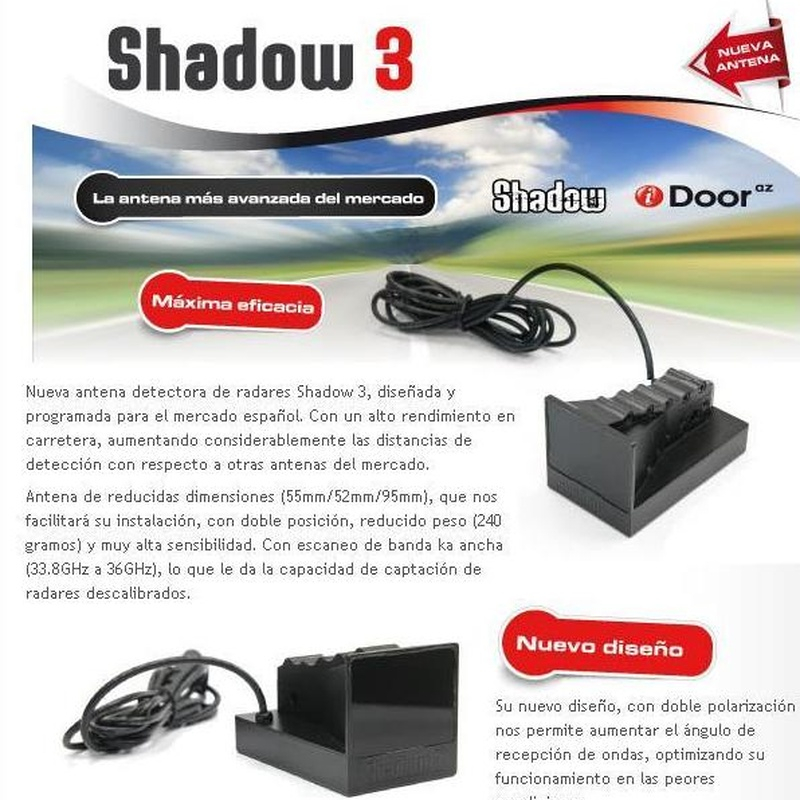 Detector de Radar Fijos y Movil marca SHADOW + Avisador: Productos de Sonivac