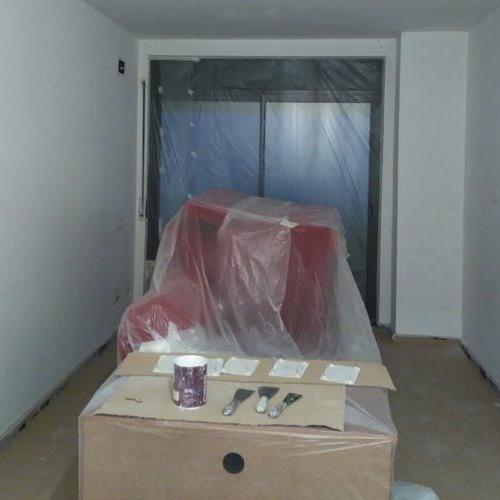 Proceso de pintura de salón en Terrassa