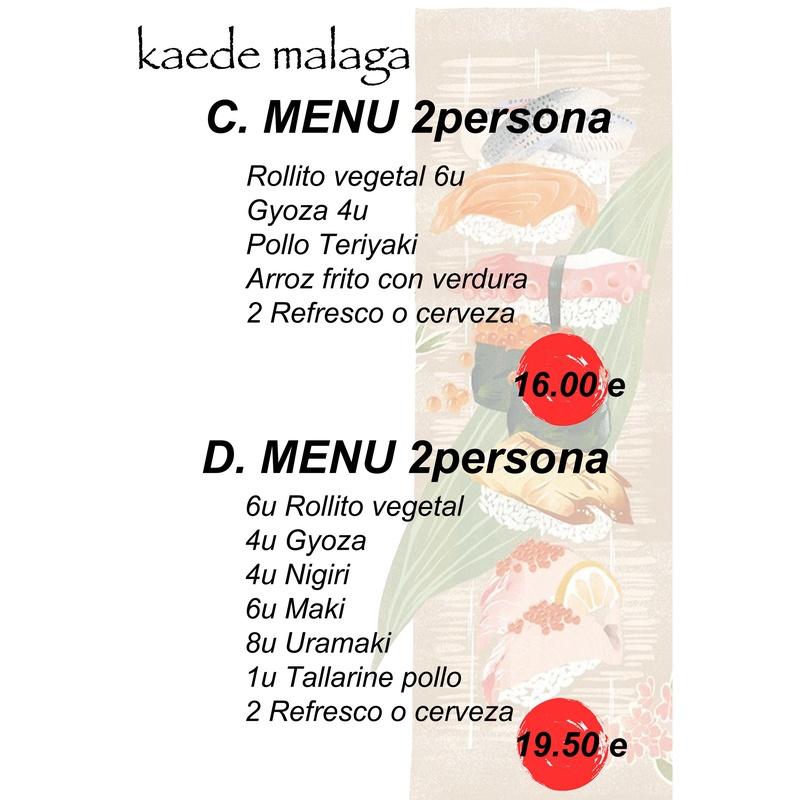 Menús solo servicio recoger en el restaurante: Cocina japonesa de Kaede Restaurante Japonés