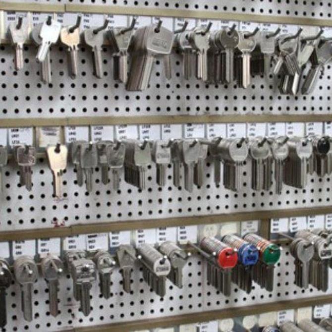 Diferentes tipos de llaves para puertas