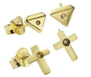 Joyería en oro con circonita y piedras semipreciosas