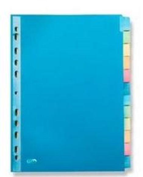 Índices separadores: Catálogo de productos de Exclusivas Goimar, S. L.