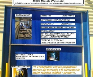Farem Puertas Automáticas Fabricación Reparación y Mantenimiento