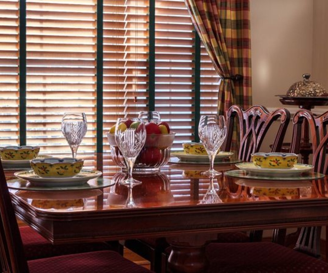 Una mesa extensible para el comedor