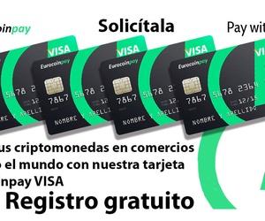 Pide tu Visa para pagos con criptomonedas resgistrandote de forma gratuita!!!