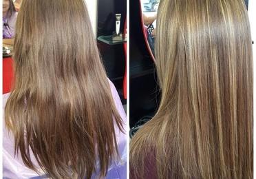 Alisado de Keratina para cabellos rubios
