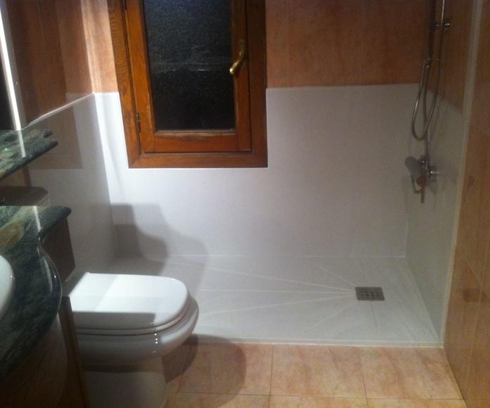 Cambio de bañera por ducha con paneles