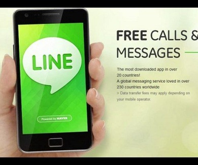 Contacta con nosotros gratis con Line