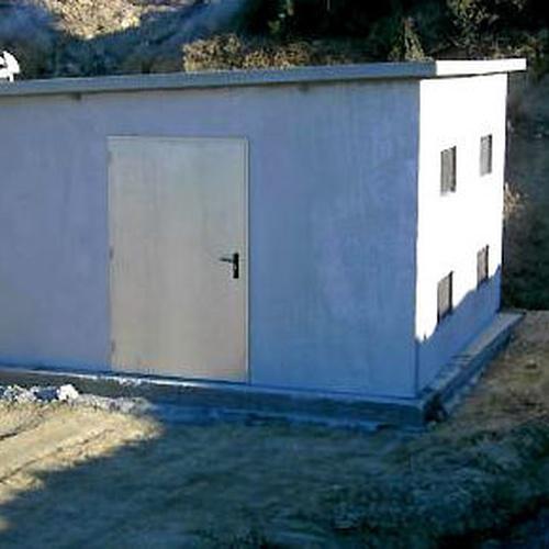 Casetas prefabricadas para contadores de riego