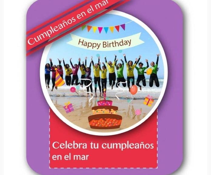 """Bono """"Cumpleaños en el mar"""": Catálogo de Escuela Cántabra de surf"""