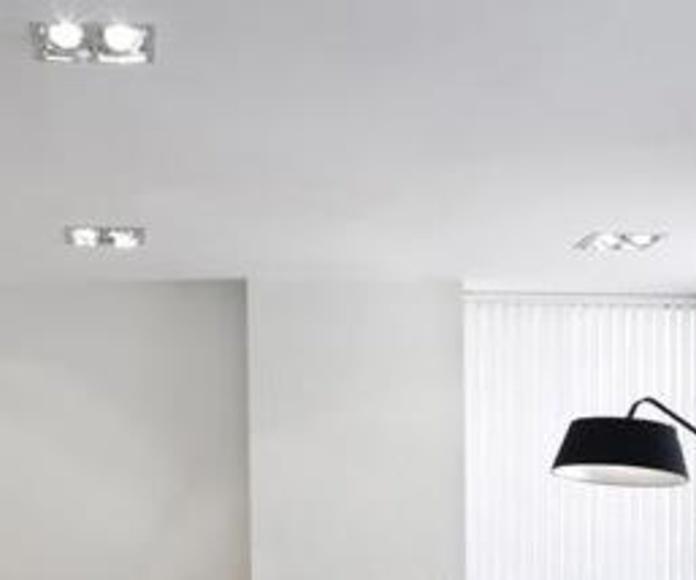 Colocación de óculos y lámparas