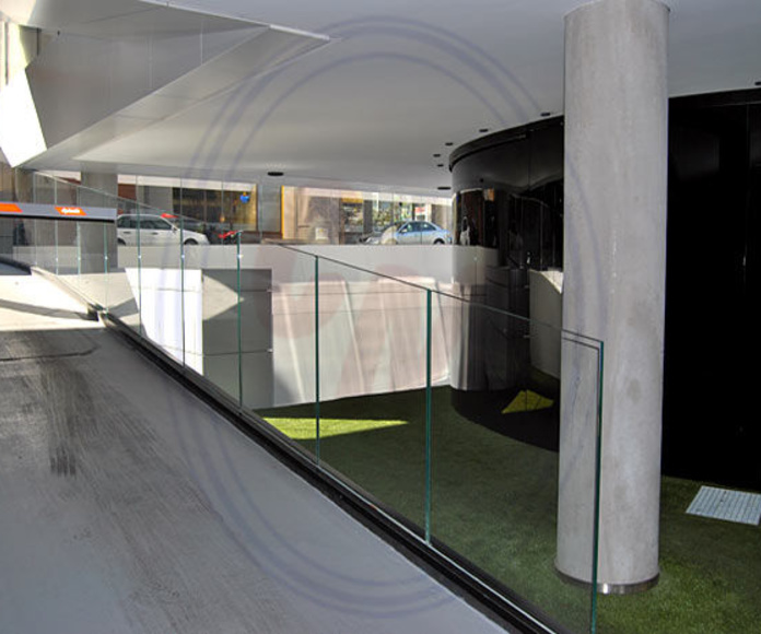 Barandillas y exteriores de cristal Madrid: Productos  de Cristalera Madrileña