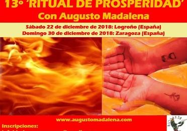 Ritual de Prosperidad, con Augusto Madalena. 2018. 13ª edición.