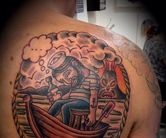Tradicional y color: Servicios de Sailors Tattoo Family