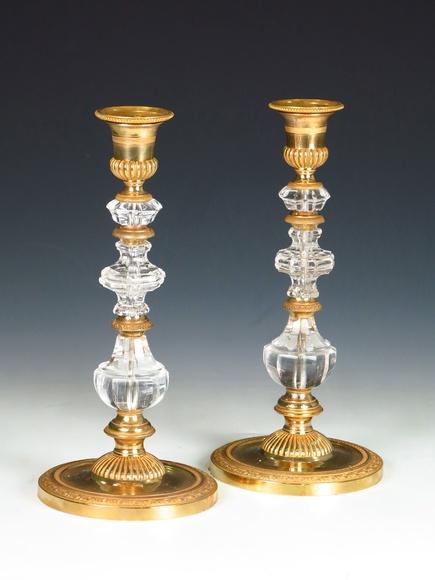 Pareja de candeleros franceses : Catálogo de Goya Subastas