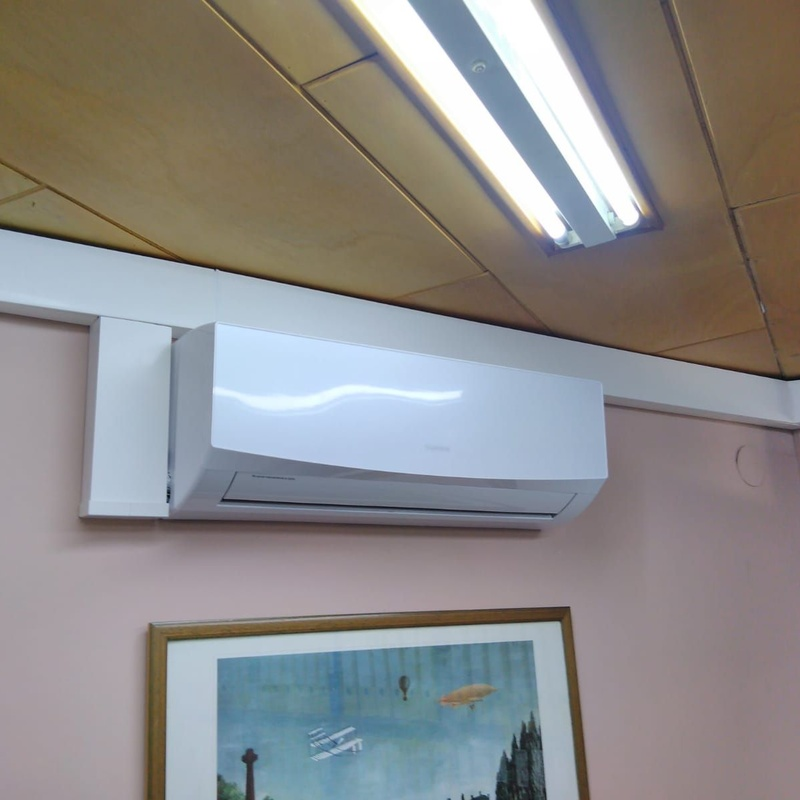 Obras realizadas de aire acondicionado /  Oficinas de Virgen del Camino: Catálogo de Instalaciones y Obras de Galicia S.L