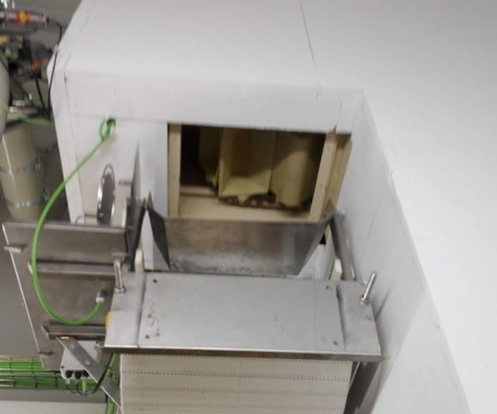 Sistema cierre cortafuegos cinta transportadora