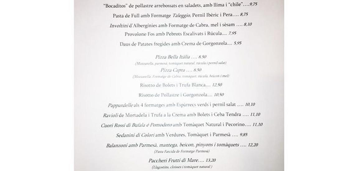Restaurantes recomendados en Calella