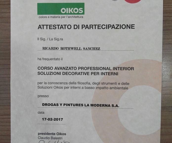 Certificación OIKOS - Curso avanzado decoración.