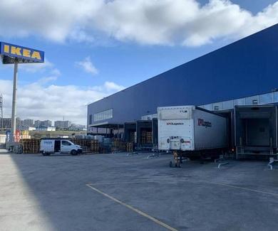 Instalación de retenedores para camiones