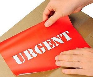 Envíos urgentes aéreos