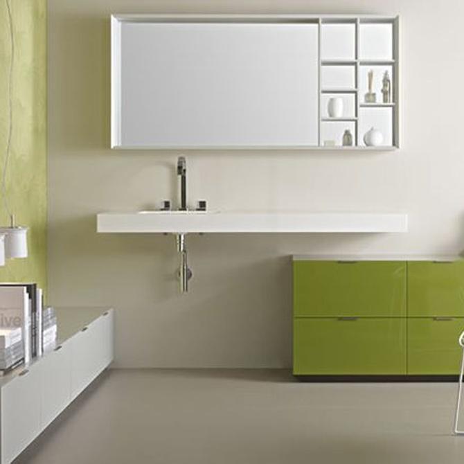 Los colores más adecuados para los muebles del baño