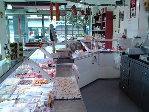 Interior de la carnicería