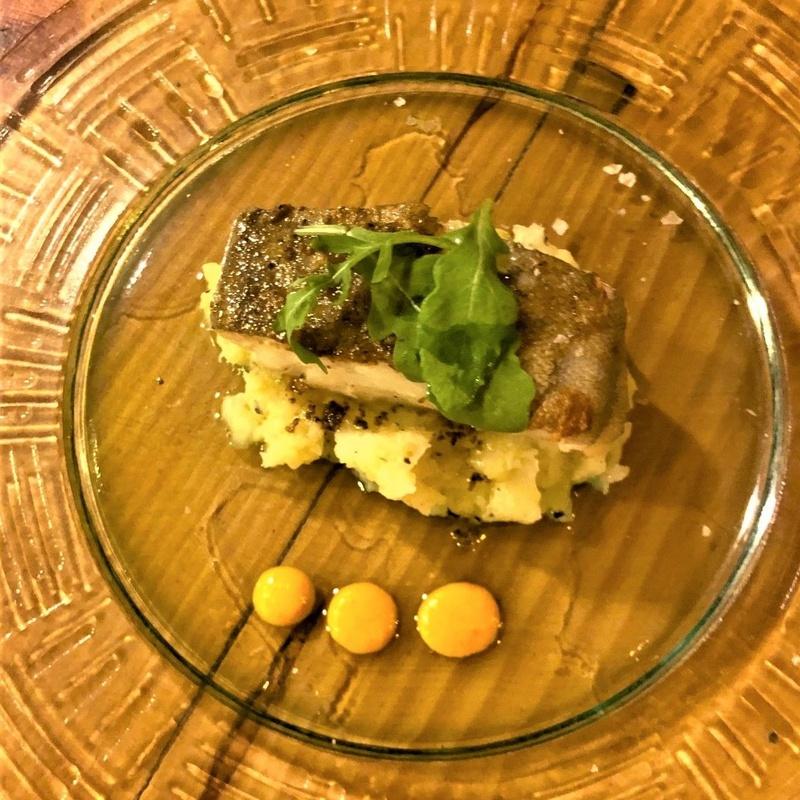 Bacalao al horno con patata trufada: CARTA y Menús de Alquimia