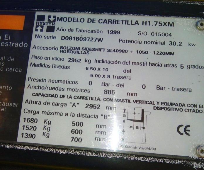 OCASIÓN CARRETILLA DIESEL CON VOLTEADOR: Maquinaria de ocasión de Carretillas Elevadoras A.L.A., S.L.