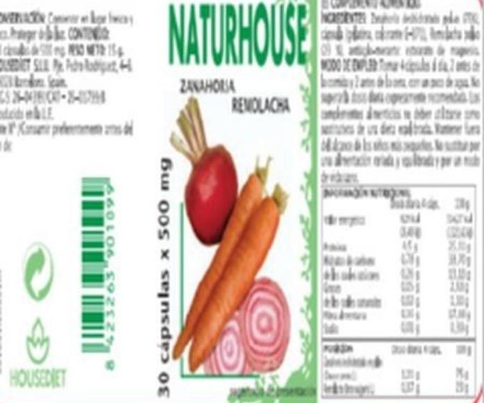 Naturhouse Zanahoria-Remolacha Cápsulas: Productos de Naturhouse