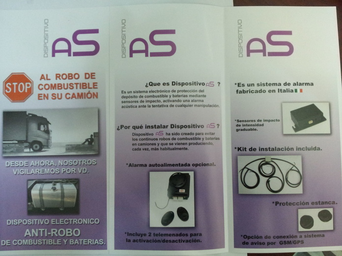 Dispositivos anti-robo de combustible