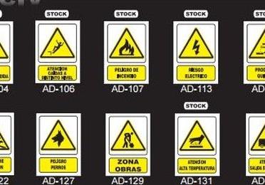 Placas de señalización