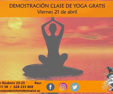 Clase gratis demostración Yoga - Raco Esoteric (Reus)