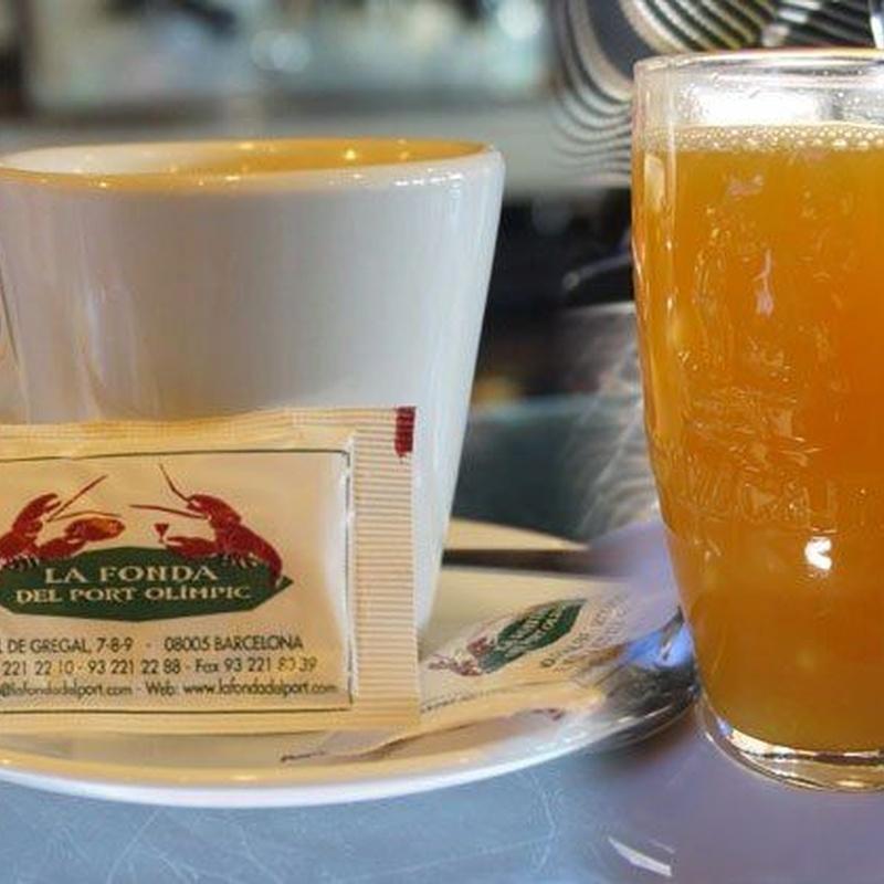 Rest. La Fonda del Port Olimpic. Bebidas para desayunos y almuerzos: Menús restaurantes de Grupo Silvestre