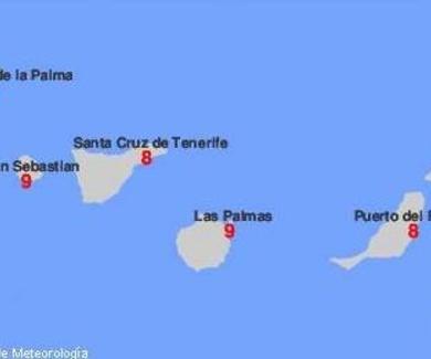 Estos son los índices de radiación u.v. en Canarias hoy, no olvides proteger tus ojos. Ellos lo sufr