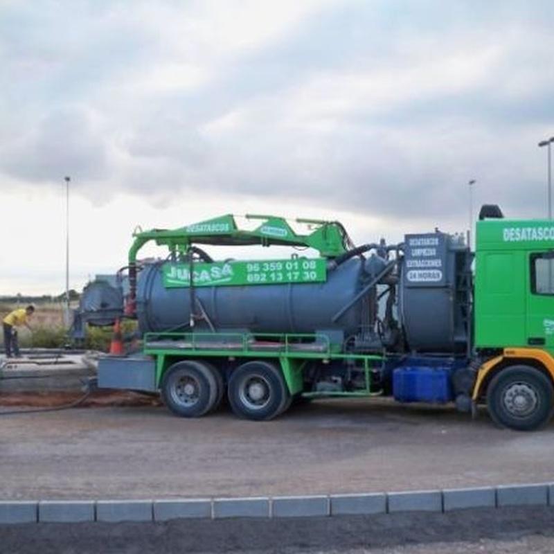 Limpieza de alcantarillado: Trabajos realizados  de Desatascos y Extracciones Merino