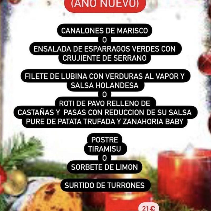 MENUS NAVIDEÑOS: Carta de Celler Sa Ferrería