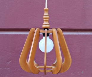 Lámpara madera años 60