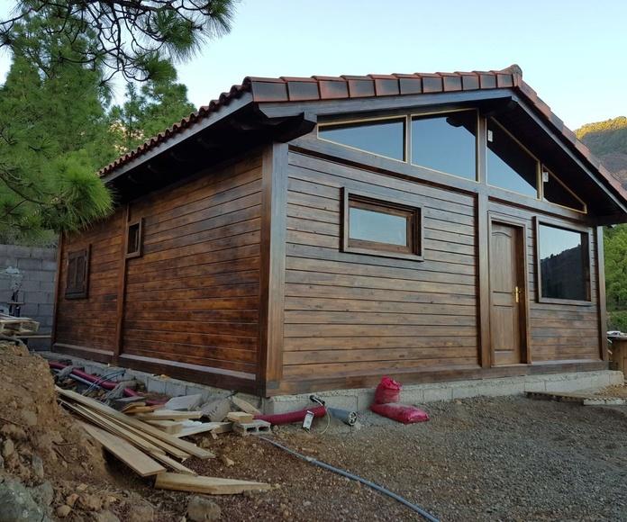 Cortelima Wood cabin factory Tenerife