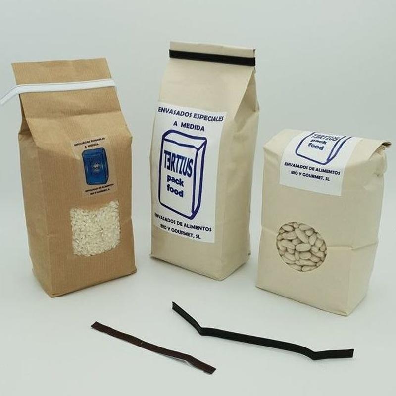 Bolsas preformadas de papel kraft exterior y polipropileno interior: NUESTROS  ENVASADOS de Envasados de Alimentos Bio y Gourmet, S.L