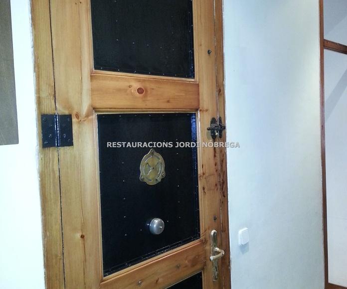 Restauración de puertas de interior y exterior: Nuestros trabajos de Jordi Nóbrega Restauracions