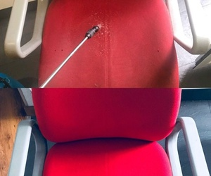 Limpieza y desinfeccion de sillas ( ANTES Y DESPUES )