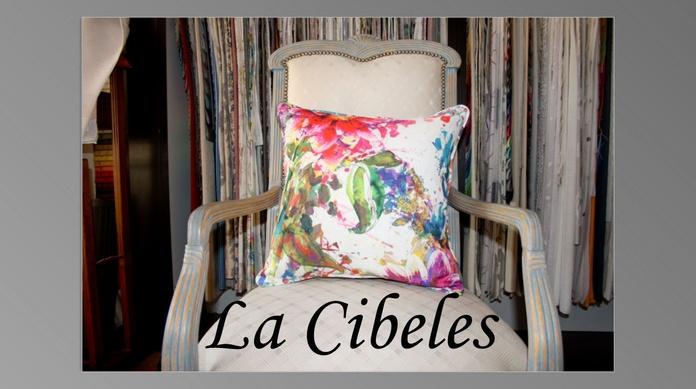 Cojín de loneta motivos florares colores: Catálogo de La Cibeles
