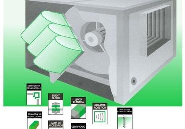 Cajas doble oído-motor directo + filtro bolsas