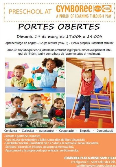 Portes obertes Preschool Program / Open House Preschool Program