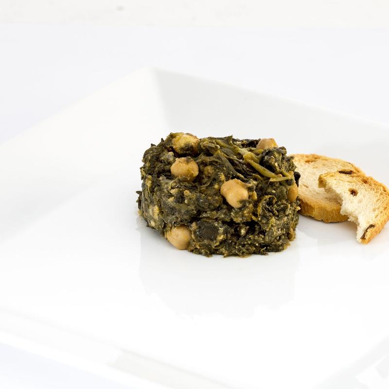 Espinacas con garbanzos 300g: Nuestros productos  de Precocinados Mi Tierra