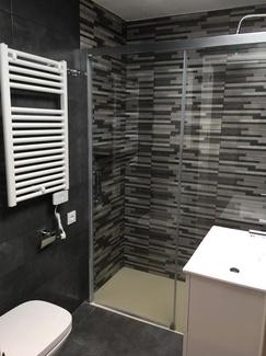 Reforma Integral de baño en tonos grises