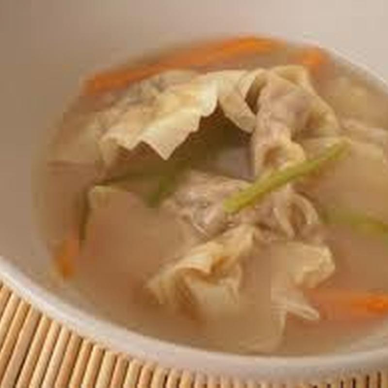 Sopa de Wan Tun: Carta de El Jardín de Oriente