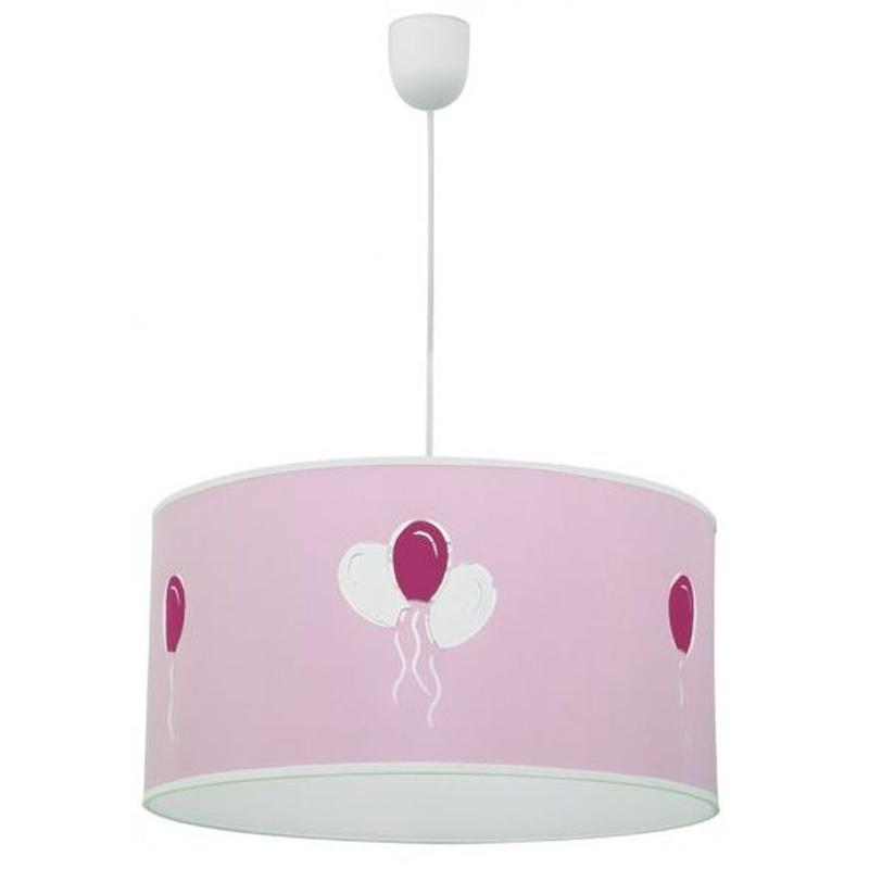 Lámpara infantil modelo globitos rosa