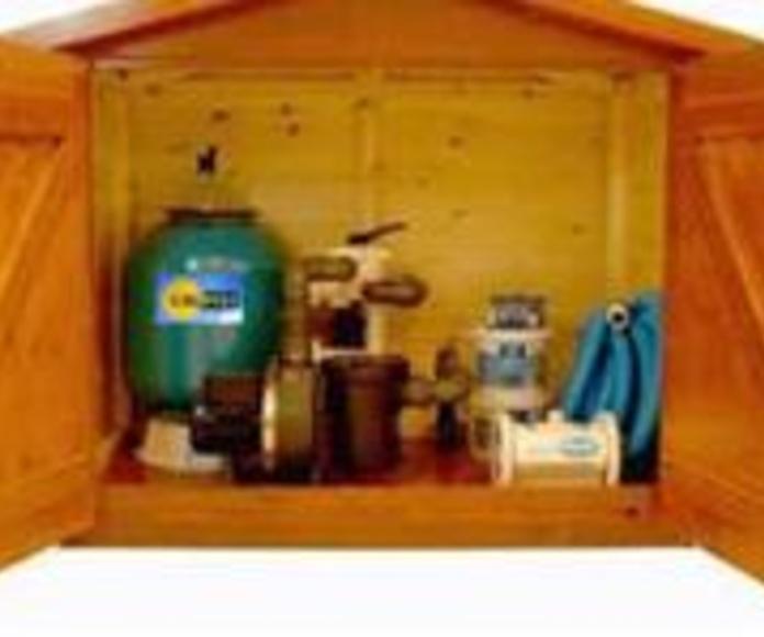 Caseta de madera para depuración en superficie